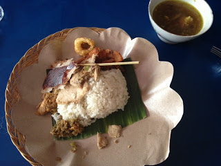 Babi Guling for Lunch (Traditional Balinese Dish)