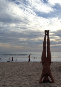 Sunset Beach Yoga - My first day on the beach in Bali