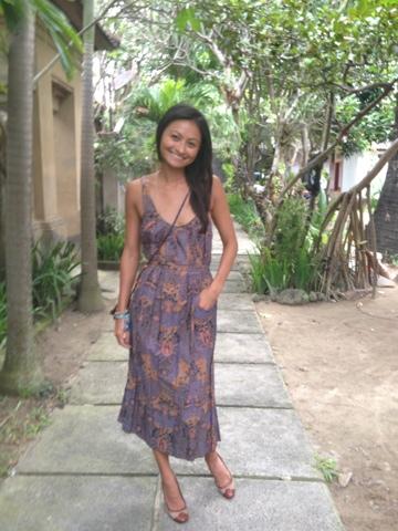 Traditional Indonesian Batik Dress