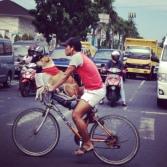 Cycling Dog