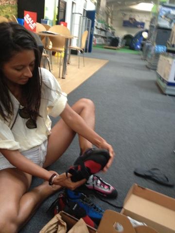 Rock Climbing Shoe Shopping
