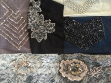 Beautiful beaded fabric samples