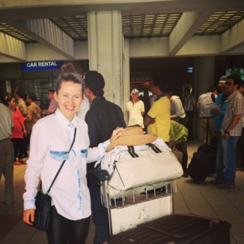 My lovely Design assistant Andrea arrives in Bali