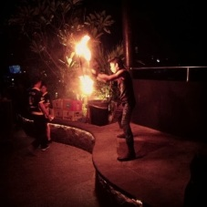 Fire dancer at SkyGarden