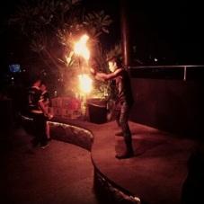 Fire dancer at SkyGarden