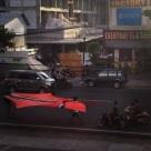 Kite Flying Down The Street