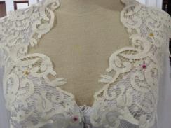 Pinning Lace to Dress