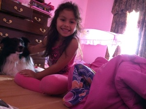 Princess sleepover with my little sister