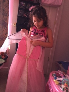 Having a look at the princess wardrobe