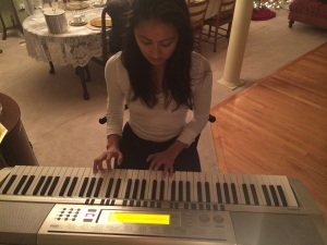 Practicing at my mom's place