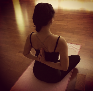 Opening my heart center at yoga.