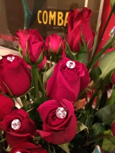Diamond roses for my sister from her hubby.