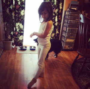 My little sister a little ballerina in training.