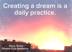 We came up with this phrase for the club to be seen as like a gym for your dreams.