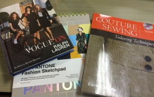 New fashion books for inspiration.