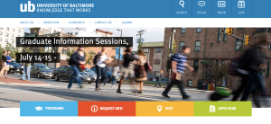 University of Baltimore main page