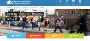 University of Baltimore main page