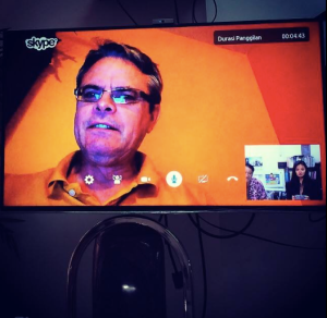 Called my dad in the USA for a little conference on Skype :)