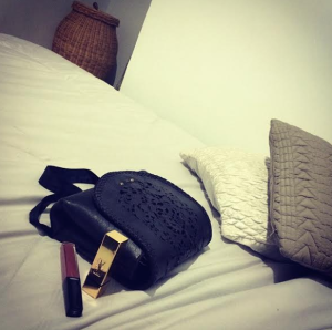 My two essentials YSL lipstick and Chanel gloss tucked away in my Elsa Fitzgerald bag.