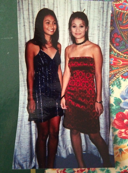 Grace and I going to a high school dance. I think I am like 14 or 15-years old in this picture.