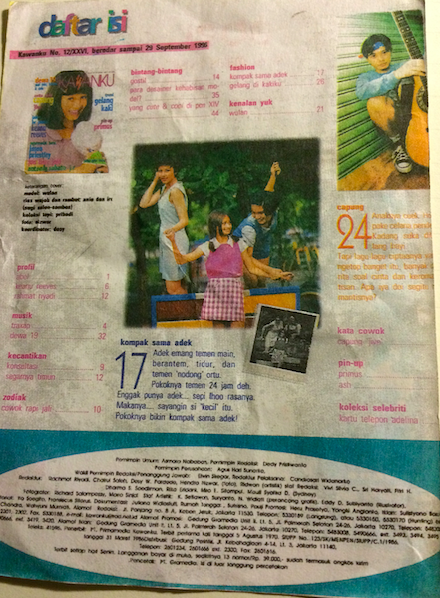 A bit of teen modeling for Kawanku magazine in Jakarta, Indonesia when I was about 11-years old.