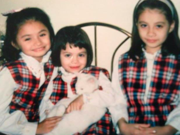 My sisters and I going to public city school George Washington Elementary School with our cat Snowball.